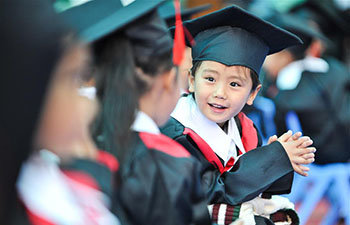 Children Attend Graduation Ceremony at Kindergarten in Lhasa